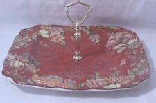 222 Fifth Gabrielle Red Floral Fine China Porcelain Handled Server EUC