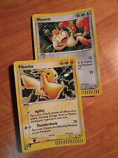 SEALED Pokemon PIKACHU+MEOWTH Card BLACK STAR Promo EX Series 012 013 Holo Rare