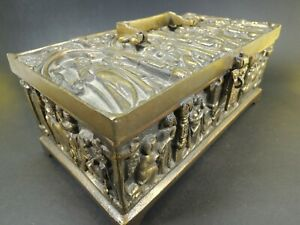 ART NOUVEAU ERHARD & SOHNE BRONZE ART NOUVEAU JEWELRY CASKET BOX