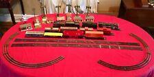 LIONEL Train Set Engine Coal Gas Tank Box Crossing LightPost Track Scale House