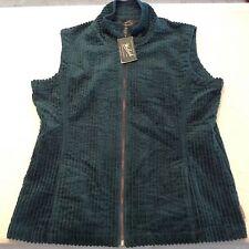 WOOLRICH CORDUROY Zip-Up Vest Womens Size L NWT!!