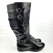 Lane Bryant Riding Boots Size 11 W Wide Calf Knee High Black Slouch Tall Shoe