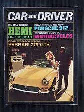 Car & Driver Oct 1965 - Porsche 912 - Dodge Hemi - Ferrari 275 - Labatt's 50