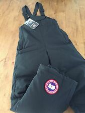 NWT Canada Goose Down Bib Size Medium Youth Snow Pants Black