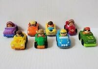 Fisher Price Little People Wheelies Cars Vehicles All Different Lot 8
