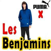"MEN'S PUMA X ""LES BENJAMINS"" HOODIE STREETWEAR PULLOVER BUNYAMIN AYDIN BLUE XL"