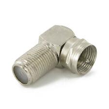 F-Stecker Verbinder abgewinkelt Stecker - Buchse 90° SAT Kabel Verbindungsstück