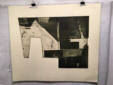 """Robert Watson """"Area Findings"""" 1967 Lithograph Signed Mid Century Art Print"""