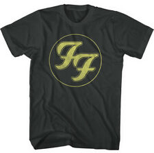 Foo Fighters 'Gold FF Logo' (Black) T-Shirt - NEW & OFFICIAL!