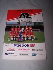 AZ v FC Wageningen 17 March 1990 Programme