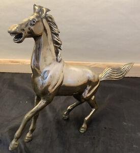 Vintage Brass Horse Statue Figurine Collectible EUC