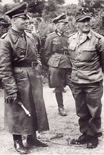 WWII B&W Photo Field Marshal Erwin Rommel in Normandy 1944  WW2 / 2321