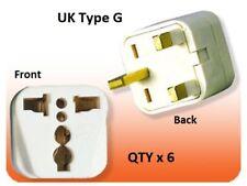 6Pk US USA To UK Ireland UAE British 3 Pin Square Plug Adapter Type G Converte