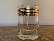 Culver Vintage 60's Cocktail Highball Rocks Glass 24K Gold & Black