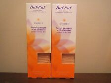 (2) x 40 Facial Sponges Buf-Puf Singles with Cleanser Normal to Dry skin by 3M