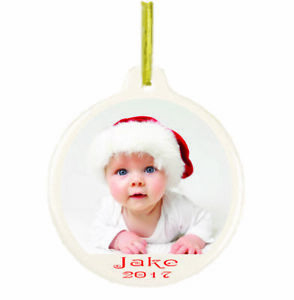 Personalized Customized With Your Picture Christmas Holiday Ornament