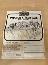Vintage Star Wars Imperial Attack Base Instructions.