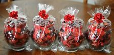 "Lot of 4 Potpourri Jars - Apple Cinnamon Scent (5"" Size)"