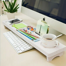 Neat Desktop Organizer stationery Storage Rack Keyboard overtoped Wooden shelf