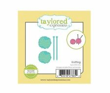 Taylored Expressions Little Bits Die(s) Set ~ KNITTING - Needle Work  ~TE1076