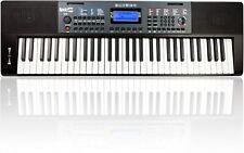 Keyboard RockJam E-Piano 61 Tasten Klavier Notenständer Musikinstrument schwarz