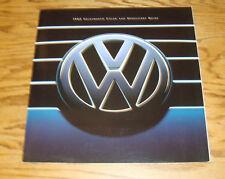 Original 1995 Volkswagen VW Color & Upholstery Guide Brochure 95 Jetta Golf GTI