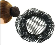 2PCS Girl Woman BLACK Elastic Bun Net Cap Cover Snood Hair Ballet Dance Office