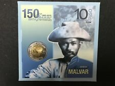 Philippines 10-Piso Heneral Miguel Malvar Commemorative Coin in Blister Pack