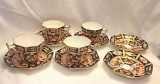 ROYAL CROWN DERBY 2451 IMARI PATTERN MADE ENGLAND SET 4 CUPS 6 SAUCERS RARE EC