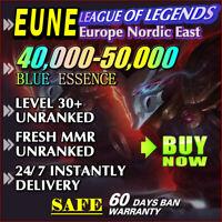 [EUNE 40K+] League of Legends Unranked LoL Account EUNE SMURF 40,000 - 50,000 BE