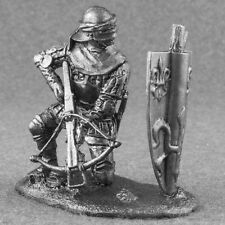 Miniature Knight French Crossbowman 1/32 Medieval Toy Tin Soldiers 54mm Metal