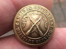 Rare colonial Military Button Zanzibar Government Military Service