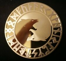 Viking Yin Yang Wolf & Tree of Life Gold Coin Medallion Token Valhalla Odin
