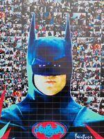 MARIA MURGIA  - BATMAN -  2020 Pezzo unico dipinto  cm 50x50 + ARCHIVIO