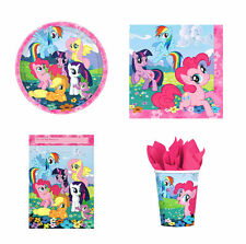 MY LITTLE PONY PARTY SUPPLIES 40 PACK, 8 PLATES 8 CUPS, 8 LOOT BAGS, 16 NAPKINS