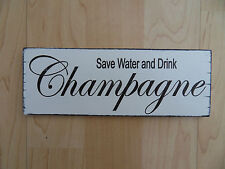 Shabby Champagne home plaque sign chic and unique