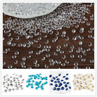 1000Pcs 6.5mm Diamond Confetti Clear Crystal Table Scatters Wedding Party Decor