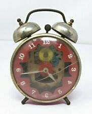 Vintage Creative Playthings Wind Up Clock Visible Gears Steampunk Child Toy