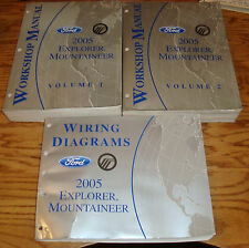 2005 Ford Explorer Mountaineer Shop Service Manual Vol 1 2 + Wiring Diagram 05