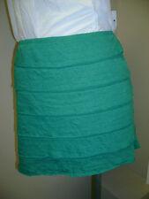 Studio M Green Faux Layer Mini Skirt LP NWT $39.00