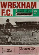 WREXHAM V SWANSEA SEMI FINAL 1ST LEG .WELSH CUP 1980/81