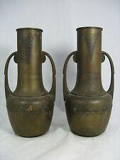 2 rare Carl  Deffner Esslingen Art Nouveau vases / Seltene Jugendstil Vasen