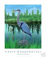 NEW Great Blue Heron 16x20 Art Print Poster Dobrowolski