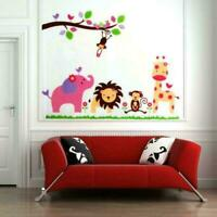 Lion Elephant Animal Home Decor Art Mural Wall Sticker Decal Removable