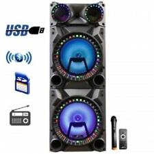 "beFree Sound Rechargeable Bluetooth 12"" Double Subwoofer Portable Party Speaker"