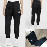 Nike Womens Air Satin Woven Track Pants Black Joggers BV4781 010 Size S SMALL
