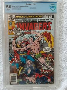 Invaders #33 (Marvel, 10/78) CBCS 9.8 NM/MT (classic KIRBY, THOR vs NAMOR cover)