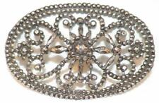 Antique Cut Steel Hat Ornament Pin Shoe Buckle To Be Sewn On Oval