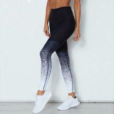 Mujer Yoga Entrenamiento Correr Gimnasio Deporte Pantalones Leggings Elástico De