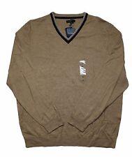 Club Room Merino Wool V-Neck Caramel Beige Sweater in XL